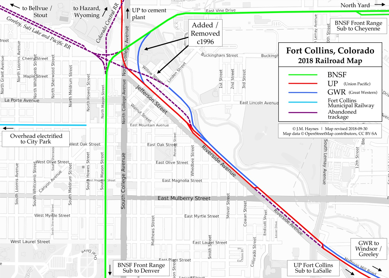 Fort Collins Railroad Map - Bnsf railway us map